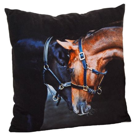 Old Friends Horse Cushion